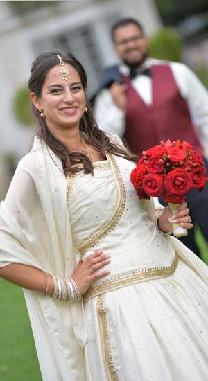 robe de mariée à corset en saree de soie indienne